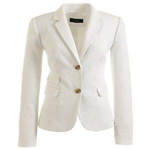J.Crew Schoolboy blazer in matelassé White 12